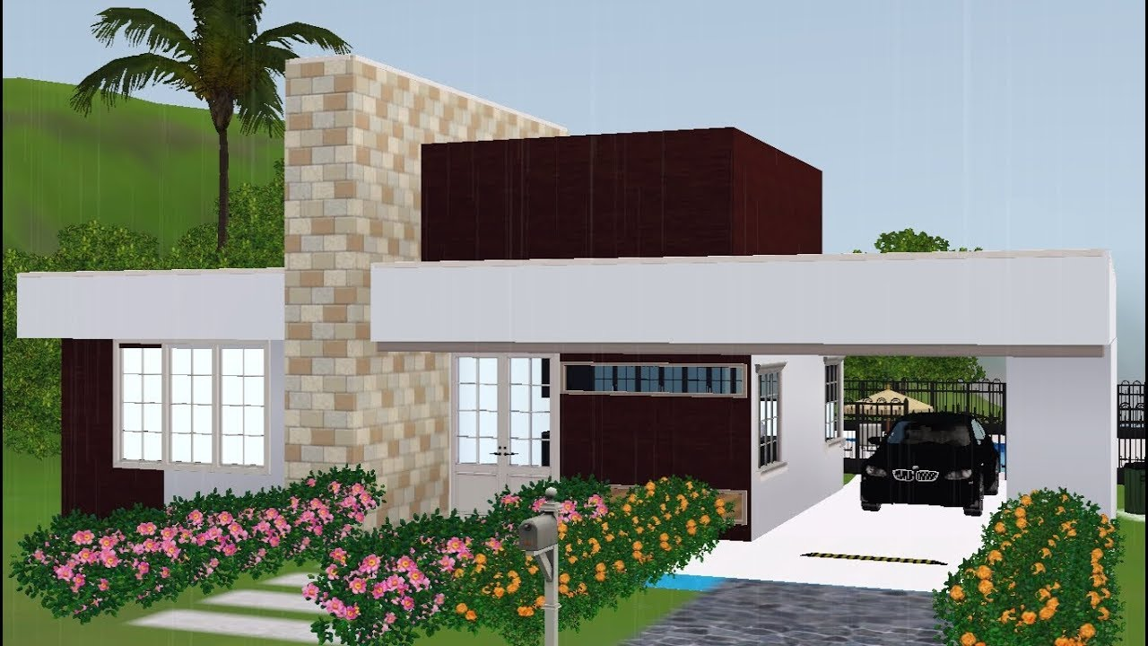Casa pequena moderna the sims 3 speed build youtube for Casa moderna sims 3 sin expansiones
