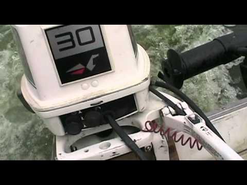 Johnson outboard motor 30 hp 1988 running