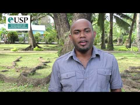 Students from University of the South Pacific explain their reasons for studying climate change