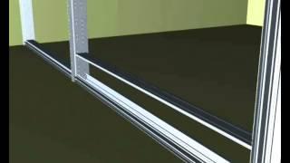 видео Монтаж офисных перегородок