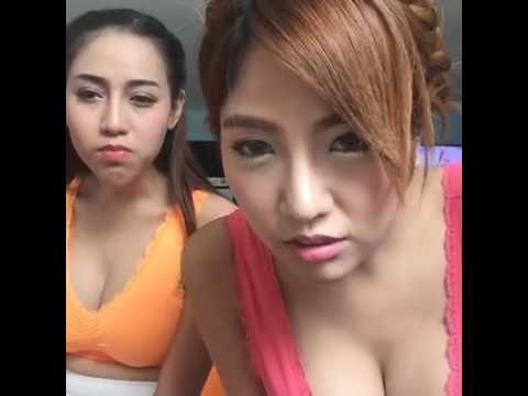 Asian girl making out in the mirror