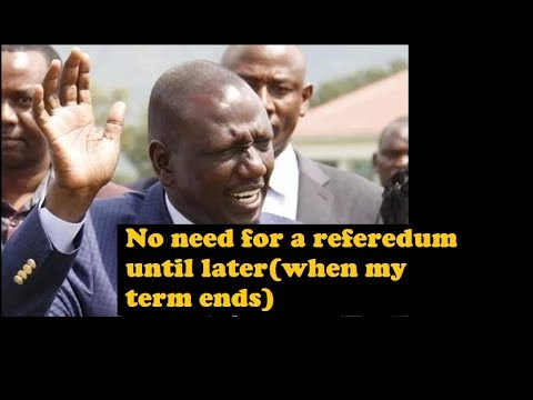 DP Ruto Lies To Frustrate The Referendum Needed For Peace
