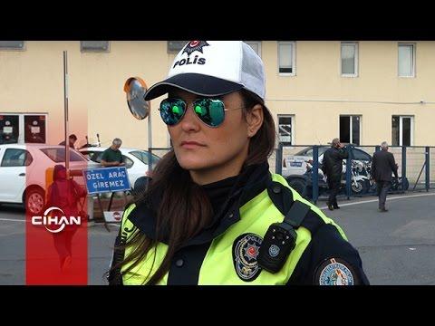 Kameralı trafik polisi görev başında