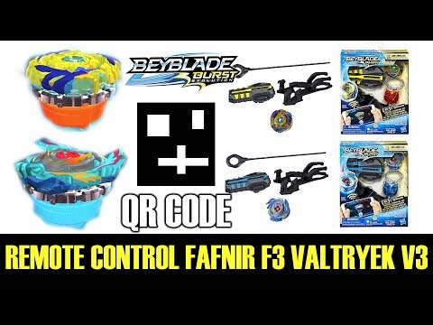 QR CODES REMOTE CONTROL TRUE VALTRYEK V3 CLEAR FAFNIR F3 BEYBLADE BURST APP QR CODES CYPRUS COLLAB