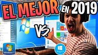 ⚠️Windows 7 vs Windows 10 en el 2019 / El Mejor Mas Rápido y Estable ? 😱