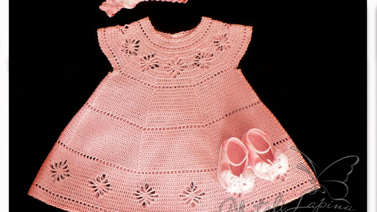 Crochet Patterns For Free Crochet Baby Dress 1566 Youtube