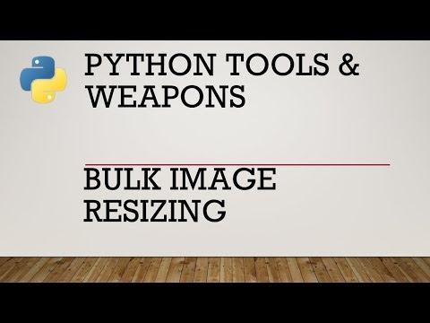 Python Bulk Image Resizing