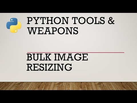 Using Python to Bulk Resize Images