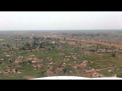 Landing at Jouba Airport - South Sudan