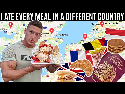 I ate every meal in a DIFFERENT COUNTRY for 24 HOURS...