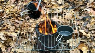 Homemade 1 Gallon Paint Can Wood Gas Stove