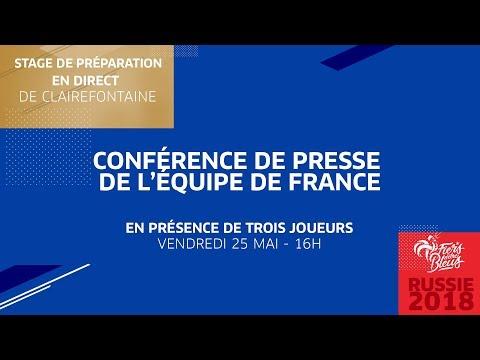 Mercredi 23, Équipe de France : conférence de presse des Bleus en direct (16h00)