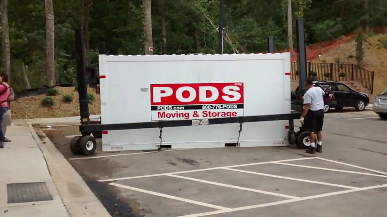 How To loadunload PODS Container from Truck Asheville Moving