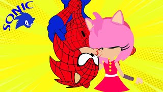 Sonic is Spiderman vs Sonic.exe -  Spider Hedgehog Upside-Down Kiss Amy - Kim Jenny 100