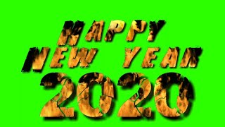 Count down Happy New year 2020 green screen Effects 2020 Fire Green Screen Effects