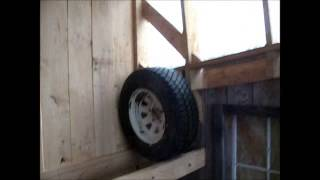 Making a tire rack