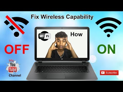 How to Fix Wireless Capability is Turned Off [Hindi]