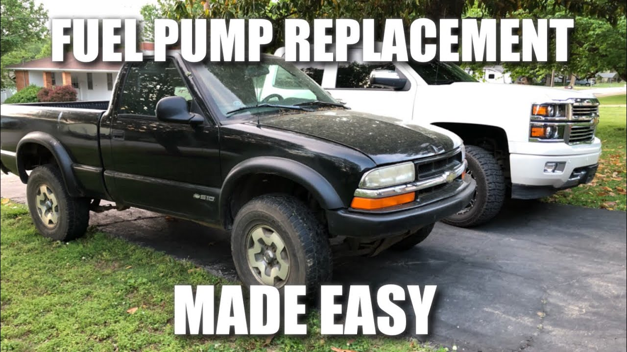 how to replace fuel pump 1998 - 2003 chevy s10 gmc sonoma (easiest method)