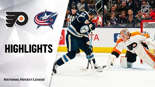 NHL Highlights | Flyers @ Blue Jackets 2/20/20