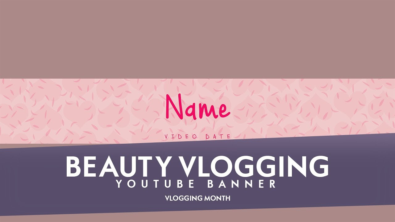Free Youtube Banner Template Beauty Vlogging 5ergiveaways 183