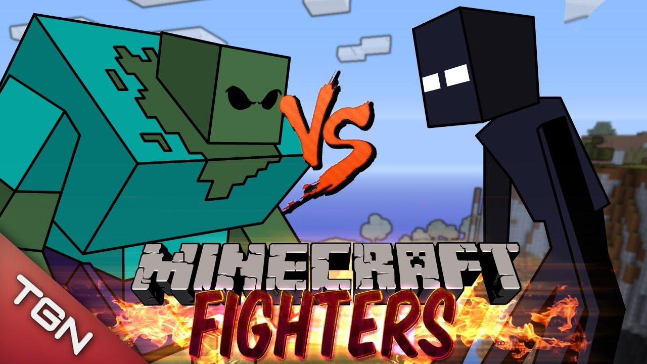 Mutant Zombie Vs Mutant Enderman Minecraft Fighters