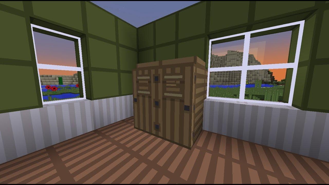 Minecraft: How to make a wardrobe - YouTube
