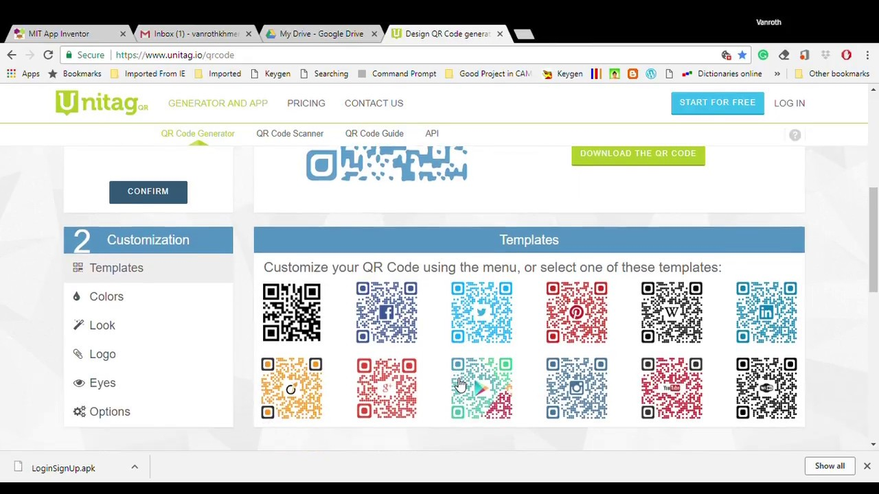 MIT App Inventor-Download your APP to APK, Google Drive and QR Code