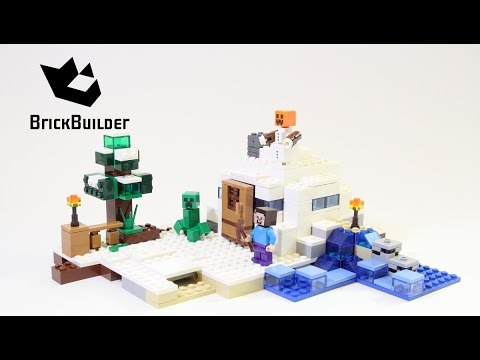 Lego Minecraft 21120 The Snow Hideout - Lego Speed Build