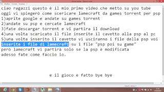come scaricare lamecraft per psp da games torrent