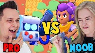 NOOB VS PRO W BRAWL STARS (Kto wygra?) | Vito vs Bella