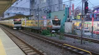 [ラッピング車あり] E233系0番台中央線快速電車 荻窪(JC-09)到着&発車