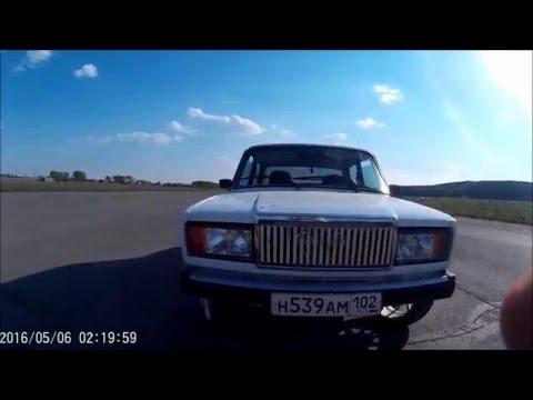 ВАЗ 2107   легкий  тюнинг  . двойной выхлоп  катки R17короче брабус отдыхает )))))))))))))))))