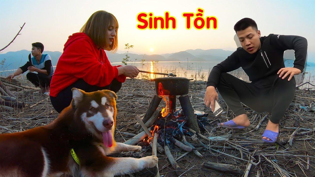 Thử thách 2 ngày sống ở đảo hoang NTN VLOG vs MẬT PET - Phần 2