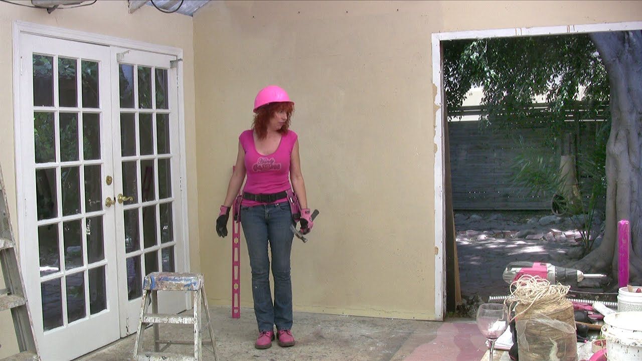 Moving a Door 3 – How to install exterior french doors - YouTube