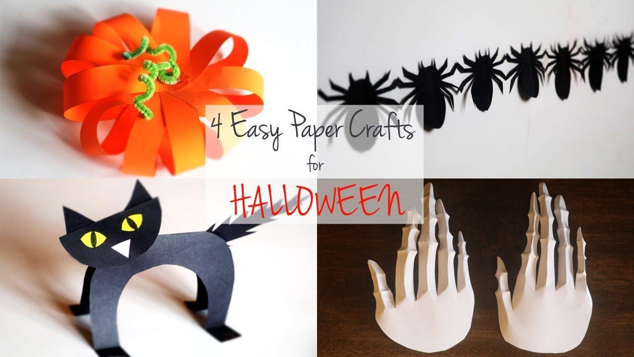 20 Easy Halloween Paper Crafts   DIY Halloween Decoration Ideas