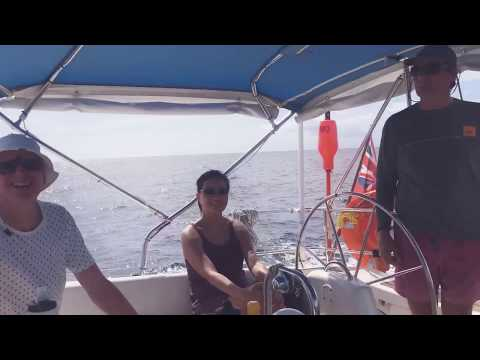 BlueFoot Travel sailing along the coast of Dominica