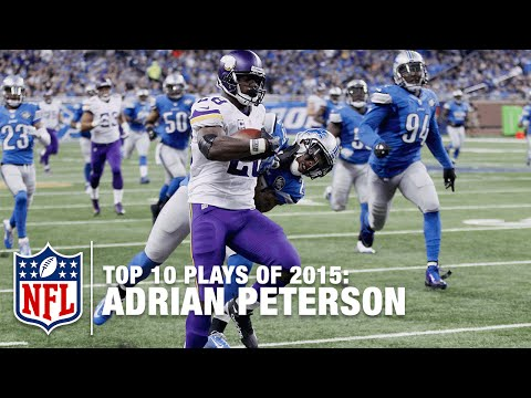 Top 10 Adrian Peterson Highlights of 2015 | NFL