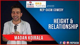Height Relationship Nepali Stand Up Comedy Madan Koirala Nep Gasm Comedy Australia