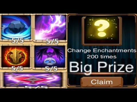 SUPER Lucky Enchantment Talent Rolling BIG Prize Event 60k Gems Castle Clash