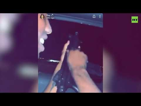 man-fires-gun-out-of-moving-car-in-el-paso,-texas