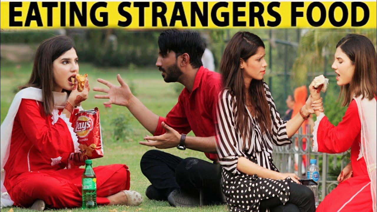 Eating Strangers Food Prank By Nimra Ali@Nimra Ali Official