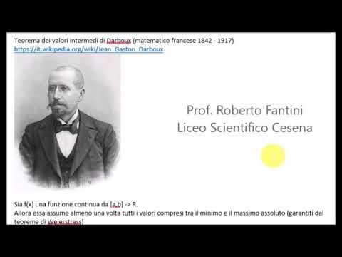 Teorema Dei Valori Intermedi.Teoremi Sulle Funzioni Continue