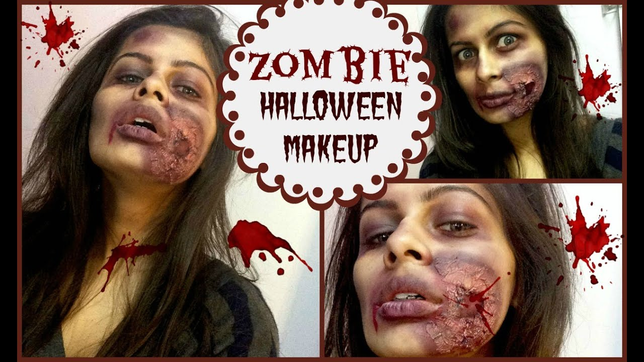 Last Minute Zombie Halloween Makeup   Without any Specialized ...