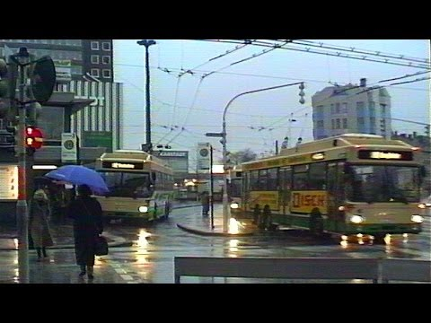 Solingen O-Bus / Trolleybuses - December 1990 - Raining!