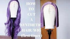 HOW TO CUT A LONG SYNTHETIC HAIR/WIG SHORT