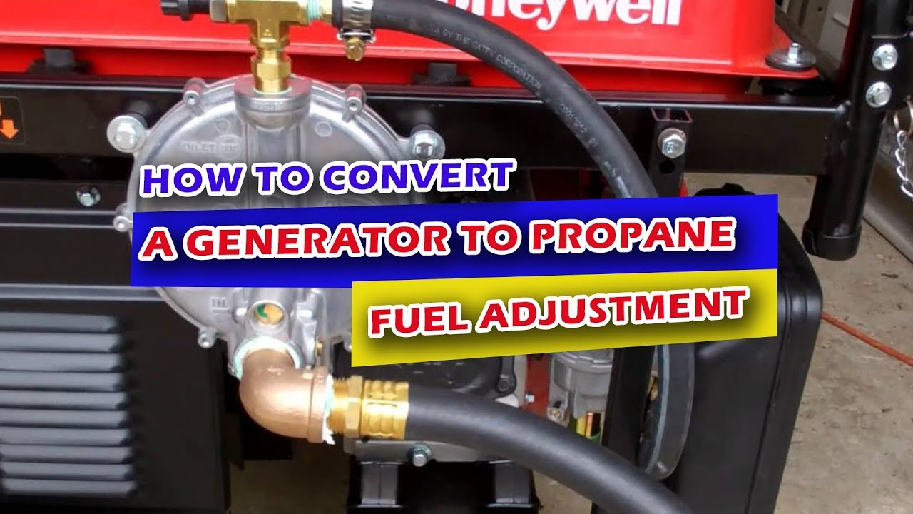 How to Convert a Generator to Propane: Fuel Adjustment