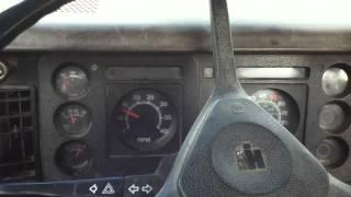 1985 International S1700 Dump-Truck  Start-Up.