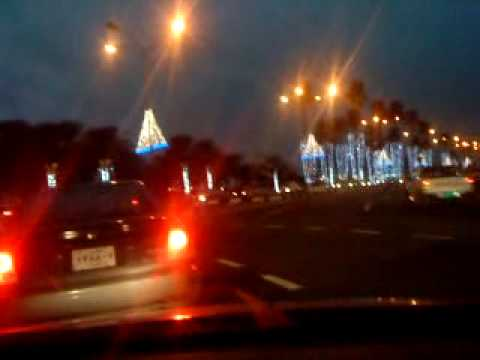 TRIANGLE lights r ready for qatar national day.MP4