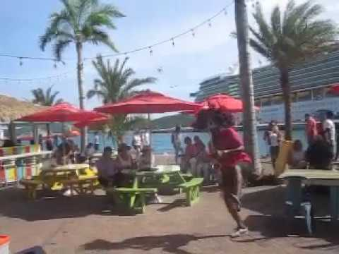 Latin Salsa Merengue Saxophone Serenade St Thomas USVI Zumba Royal Caribbean Seas Destination Cruise
