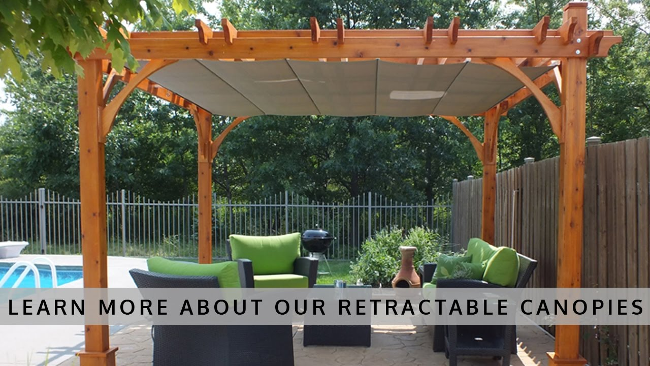 Outdoor Living Today Pergola with Retractable Canopy & Outdoor Living Today Pergola with Retractable Canopy - YouTube